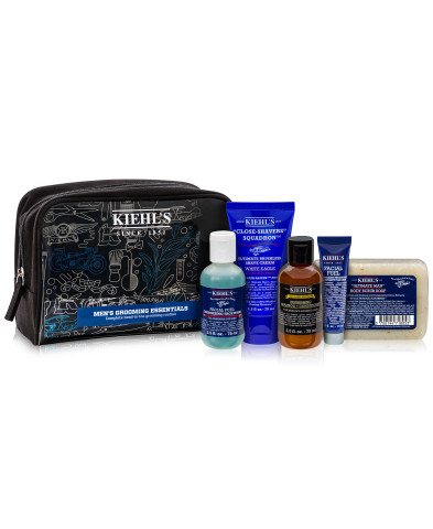 Keep Dad looking as young as he feels with luxe moisturizers, shaving accessories, and cleansers that will rejuvenate and refresh. Kiehl's six-piece Grooming Essentials Set, $48, available at select Macy's stores and on macys.com. (Photo: Business Wire)