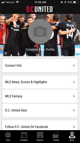 D.C. United New Mobile Fan App (Photo: Business Wire)