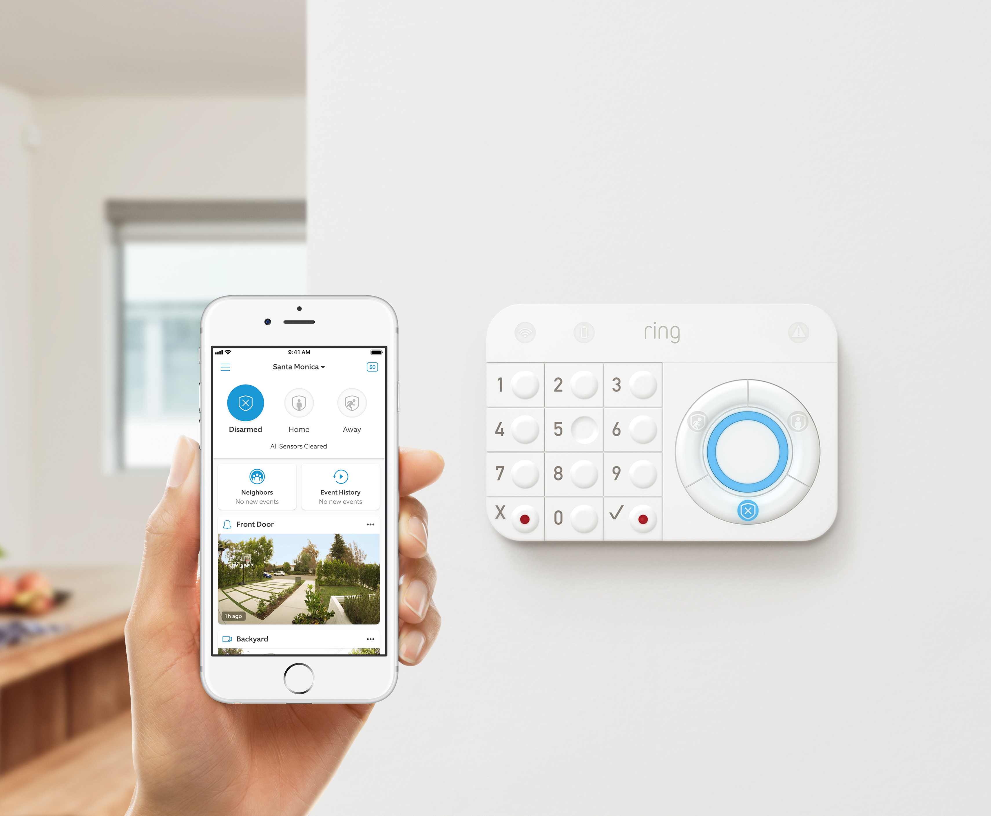 Home Security System with optional 24//7 Professional Monitoring No Ring Alarm