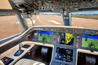 Embraer flight deck with the Rockwell Collins HGS 3500 Head-up Guidance System (Photo: Business Wire)