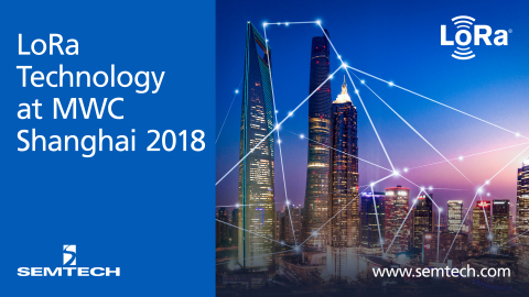 Semtech Exhibits at MWC Shanghai 2018 (Graphic: Business Wire)
