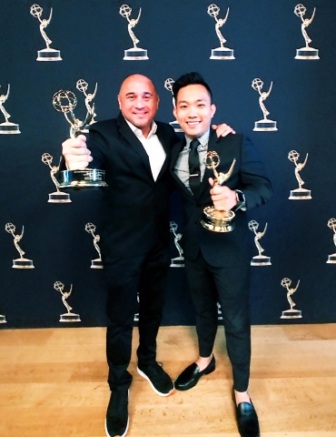 Lanai Tabura (L) and Andrew Tran (R) at the award ceremony (Photo: Business Wire)