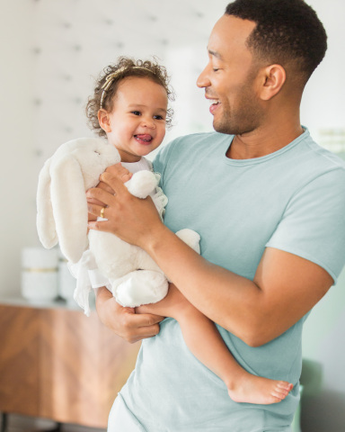 John Legend and Luna for Pampers Pure (Photo: Business Wire)