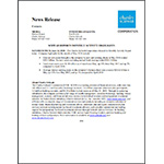 PDF of Press Release and Table