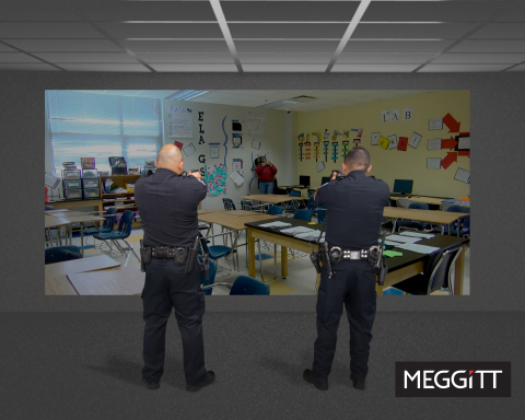 Officers train on Meggitt's virtual training system (Photo: Business Wire)