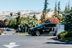 The modified Enterprise vehicle out on the road with the help of Voyage and Velodyne. (Photo: Business Wire)