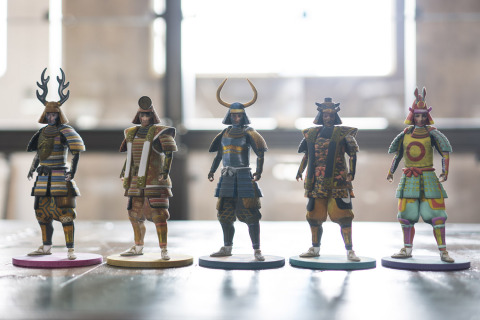 """IS JAPAN COOL?"" - ""CRAFTSMANSHIP"": After creating the SAMURAI AVATAR, visitors can print it out on a 3D printer to create their own action figure. (Photo: Business Wire)"