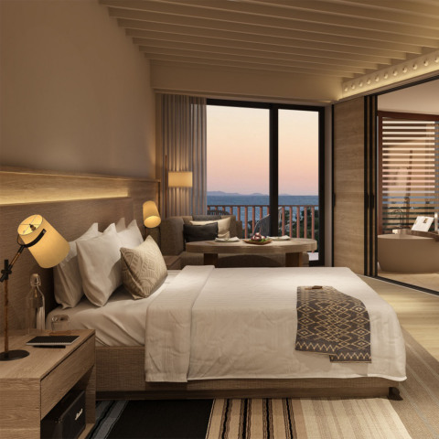 One of the beautiful guest suites at Six Senses Kaplankaya outfitted with Lighting Science's GoodNig ...