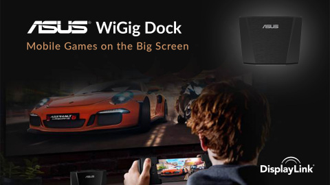 DisplayLink Showcases Game Changing ASUS Republic of Gamers (ROG) Phone and WiGig Dock for Big Screen Gaming at E3 2018 (Photo: Business Wire)