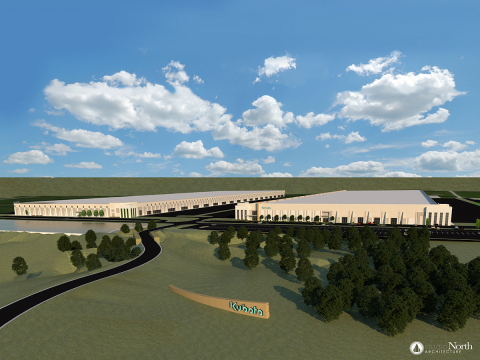 Kubota Tractor Corporation rendering of the future North American Distribution Center in Edgerton, Kansas. (Photo: Business Wire)