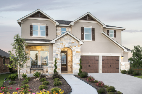 New KB homes now available in Kyle, Texas. (Photo: Business Wire)