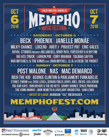 Mempho Music Festival Daily Lineup