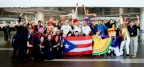 JetBlue marked the return of its full flight schedule to Puerto Rico by celebrating with customers and crewmembers at San Juan's Luis Muñoz Marín International Airport (SJU). (Photo: Business Wire)