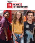 Nintendo Switch Family Showdown will be featured on the Disney Channel and Disney XD, and streamed on the DisneyNOW app this summer. (Graphic: Business Wire)
