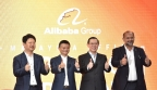 Left to Right: Ambassador Bai Tian, China Ambassador to Malaysia, Jack Ma, Executive Chairman and Founder of Alibaba Group, YB Lim Guan Eng, Finance Minister of Malaysia, Gobind Singh Deo, Minister of Communication & Multimedia (Photo: Business Wire)