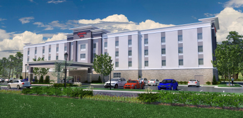 Rendering of the new Hampton Inn by Hilton Benson, North Carolina (Photo: Business Wire)