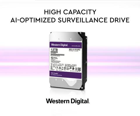 Western Digital Purple 12TB - High Capacity AI-Optimized Surveillance Drive (Graphic: Business Wire)