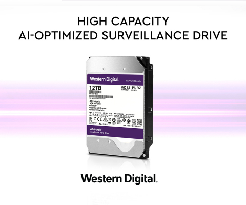 Western Digital Purple 12TB - High Capacity AI-Optimized Surveillance Drive (Graphic: Business Wire)