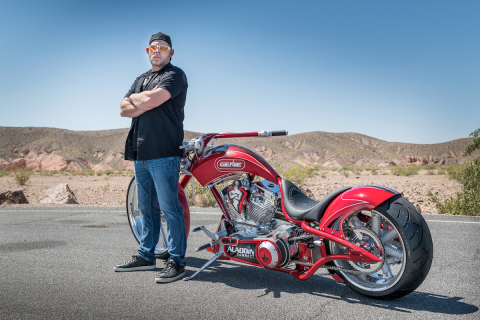 """The Genie Company was featured on Discovery's """"American Chopper"""" showcasing the custom Genie Chopper built by Paul Teutul, Jr., co-star of the revived fan-favorite series and owner of Paul Jr. Designs. (Photo: Business Wire)"""