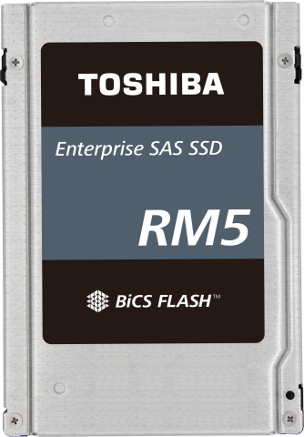 Toshiba's RM5 12Gbit/s value SAS (vSAS) series of SSDs enables SATA replacement in servers. (Photo: Business Wire)