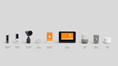 The comprehensive Vivint Smart Home suite includes Google Home, the Nest Thermostat E and Google Wifi. (Photo: Business Wire)