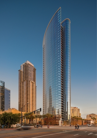 Pacific Gate by Bosa, the first Super Prime residential tower in downtown San Diego, welcomes owners with curated amenities, world-class public art and renowned restaurant. (Photo: Business Wire)