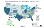 U.S. Project-Based Business Travel - State Shares of Total Volume (Photo: Business Wire)