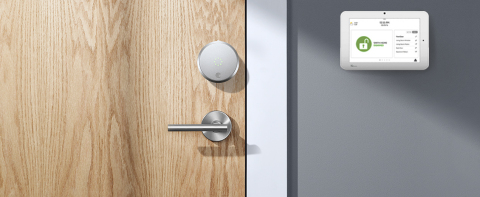 The August Smart Lock Pro has integrated with Alarm.com security systems. (Photo: Business Wire)