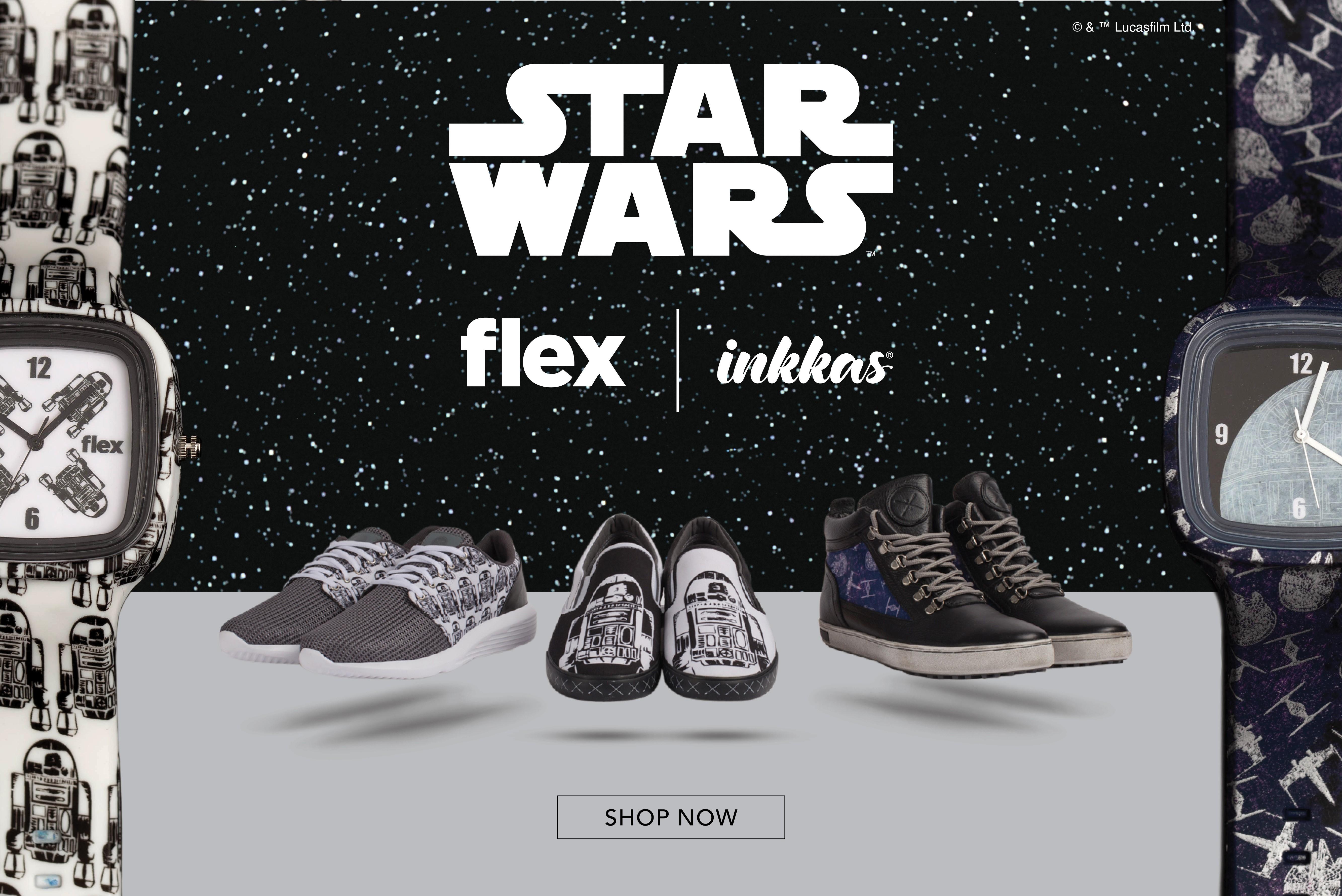01554da06c Flex Watches and Inkkas Worldwear footwear launch Star Wars themed  collections