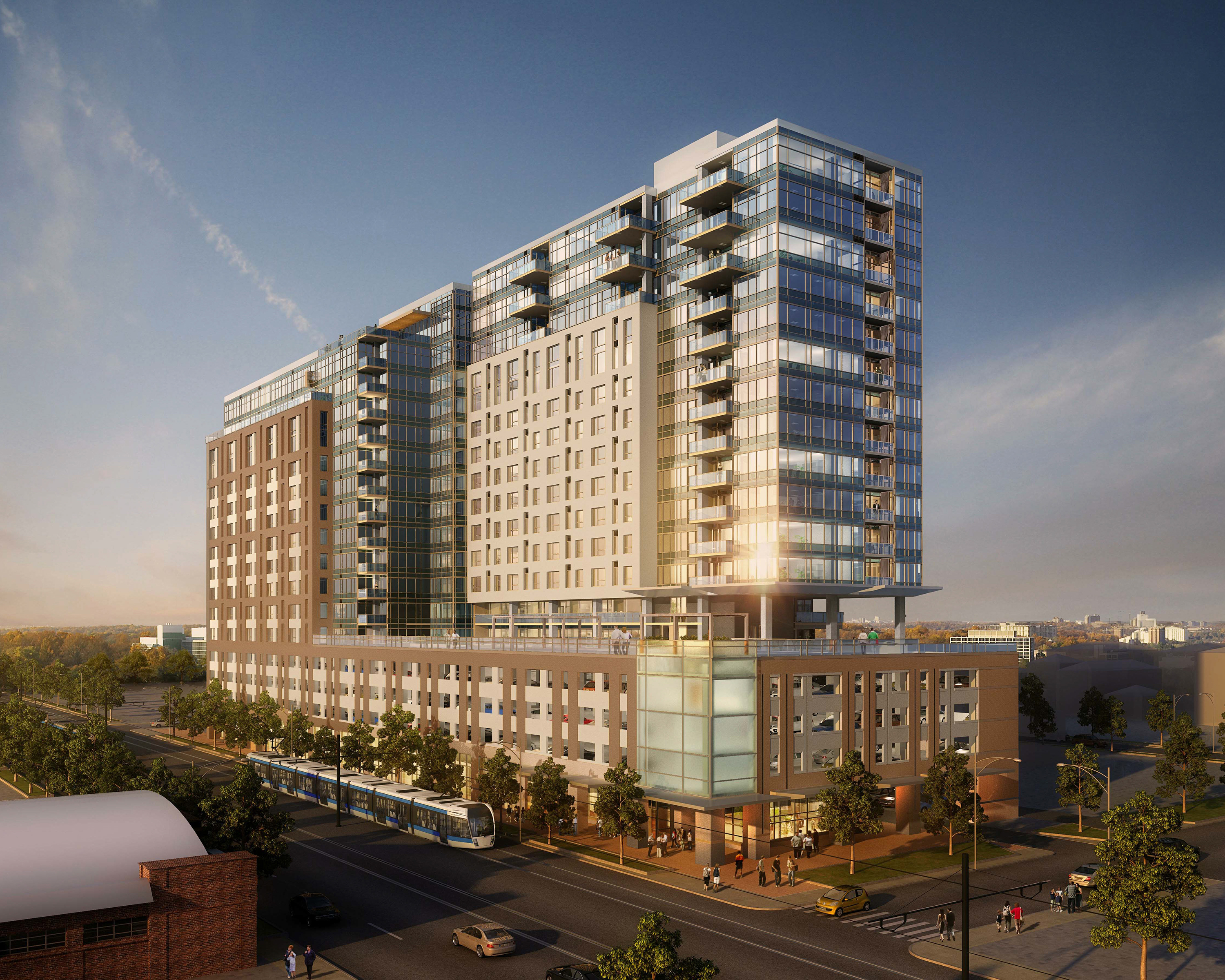 Weitz tops out luxury apartment high rise in downtown denver business wire