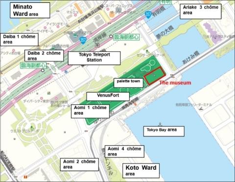 MORI Building DIGITAL ART MUSEUM: teamLab Borderless Area Map (Graphic: Business Wire)