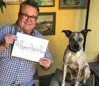 """Spending time with my dog Roscoe is one of the things that helps me harness my inner power to rise up against cancer."" - Eric Stonestreet, star of ""Modern Family"" (Photo: Business Wire)"