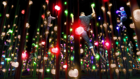 2: teamLab Athletics Forest - Three-dimensional Light Bouldering (teamLab, 2018-; Interactive digital installation & sound: DAISHI DANCE) (Photo: Business Wire)