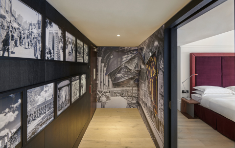 (ANDAZ)RED suite at Andaz London Liverpool Street. (Photo: Business Wire)