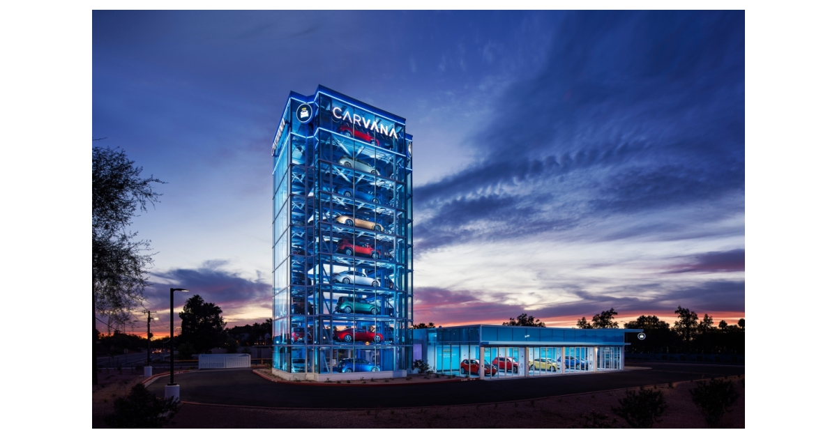 Carvana Opens the Country's Largest Car Vending Machine in ...