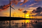 Wind turbines of Taiwan Power Company in Gaomei Wetlands. (Photo: Business Wire)