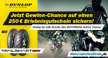 MotorradreifenDirekt.de und Dunlop lassen Reiseträume wahr werden (Photo: Business Wire)