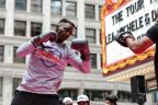 PFL Fighter Will Brooks Working Out Before PFL2 at Iconic Chicago Theatre (Photo: Business Wire)