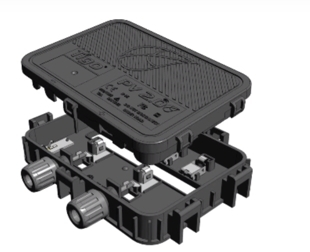 The Flex MLPE's contacts within the junction box allow for high current, exposure to extreme elements, and interchangeable covers. (Photo: Business Wire)