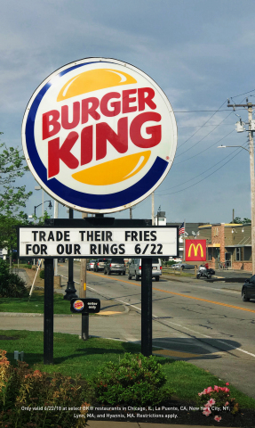 FOR NATIONAL ONION RING DAY, TRADE THEIR FRIES FOR BURGER KING® RINGS (Photo: Business Wire)