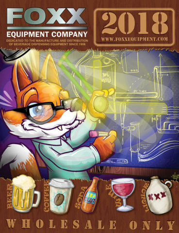 The 2018 Foxx Equipment catalog features 248 pages of fittings and equipment for dispensing beer, wine, soda, coffee and other beverages. (Photo: Business Wire)
