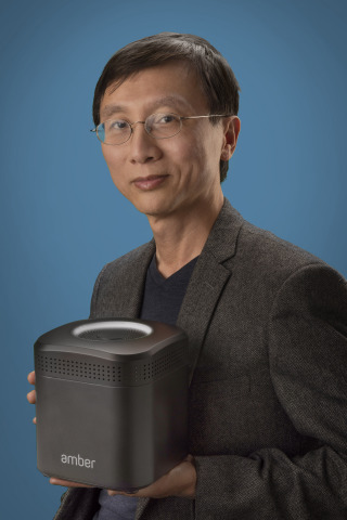 Storage pioneer Dr. Pantas Sutardja unveils Amber: the world's first hybrid cloud storage platform for consumers. (Photo: Business Wire)