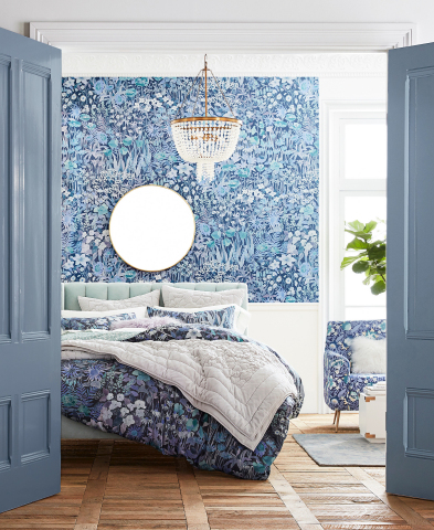 Bedroom in Liberty London Fabric x PBteen collection available today (Photo: Business Wire)