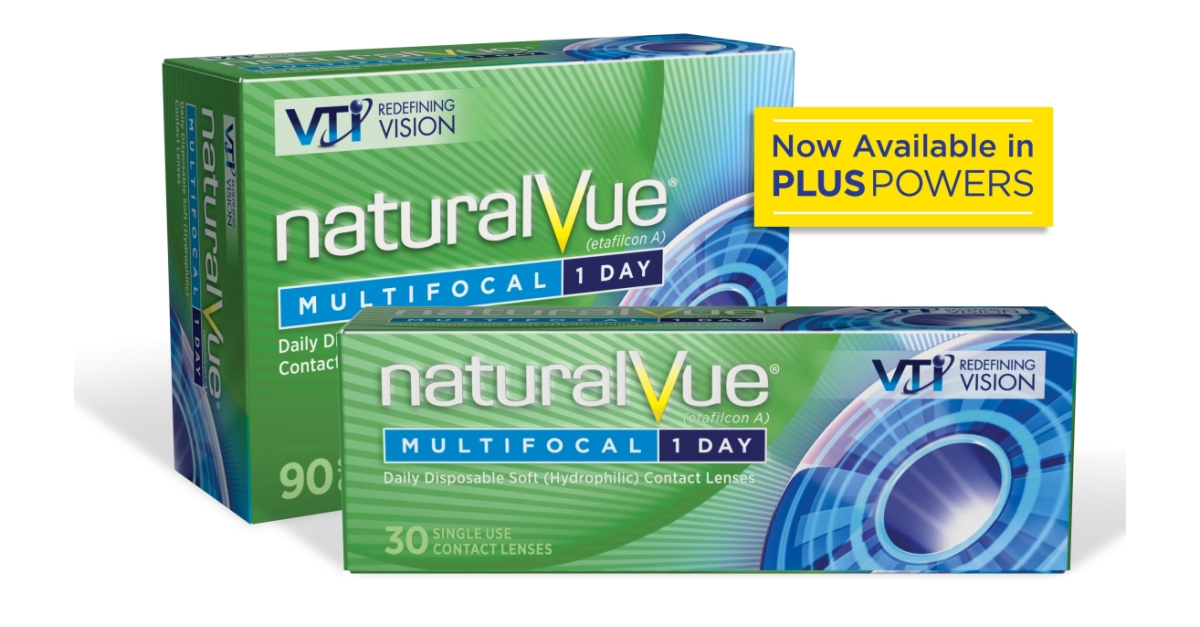 2fd05b084a45c4 Visioneering Technologies Launches NaturalVue Multifocal Contact Lenses in  Plus Powers