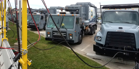 Clean Energy CNG fueling station powers buses and refuse trucks in Olathe and Johnson County, KS wit ...