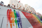PVH rainbow-themed double-decker bus (Photo: Business Wire)
