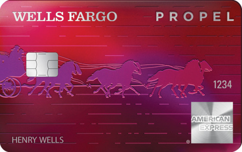 The new Wells Fargo Propel American Express Card (Photo: Business Wire)