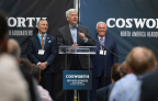 Cosworth CEO Hal Reisiger, Governor Rick Snyder and Cosworth Co-Owner Jerry Forsythe on-hand for the grand opening of Cosworth's new North American headquarters and advanced manufacturing facility. (Photo: Business Wire)