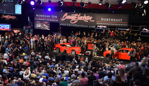 Barrett-Jackson delivered another incredible record-breaking automotive celebration during its 3rd Annual Northeast Auction. (Photo: Business Wire)