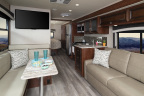 The 2019 Fleetwood RV Flair offers five floorplans each featuring open living space, a full kitchen, durable vinyl floors and a modern design. (Photo: Business Wire)